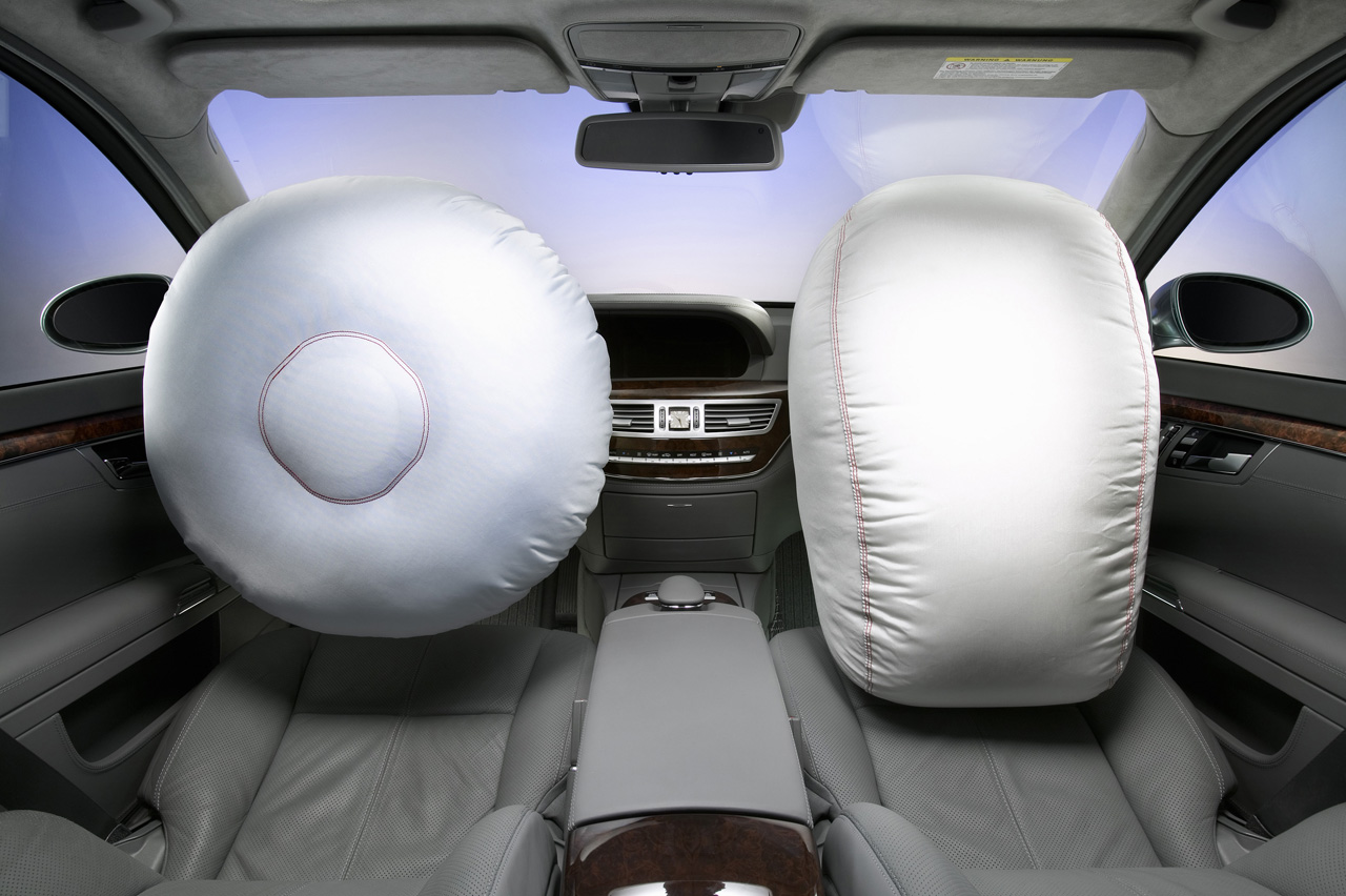 Picture of Two Exploded Airbags